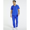 Kép 3/3 - JERUM 4 zsebes egyenes szárú férfi orvosi nadrág - királykék