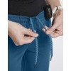 Kép 4/4 - JOLIE 5 zsebes egyenes szárú sztreccs orvosi nadrág - karibi kék