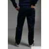 Kép 2/3 - ALAN sötétkék szaténpamut férfi munkaruha nadrág