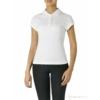 Kép 2/2 - Galléros női pamut póló - fehér - XL