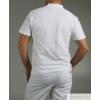 Kép 2/4 - Galléros pamut férfi póló - fehér