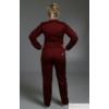 Kép 2/2 - RODI bordó szaténpamut unisex orvosi műtős nadrág