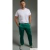 Kép 2/2 - RODI zöld szaténpamut unisex orvosi műtős nadrág