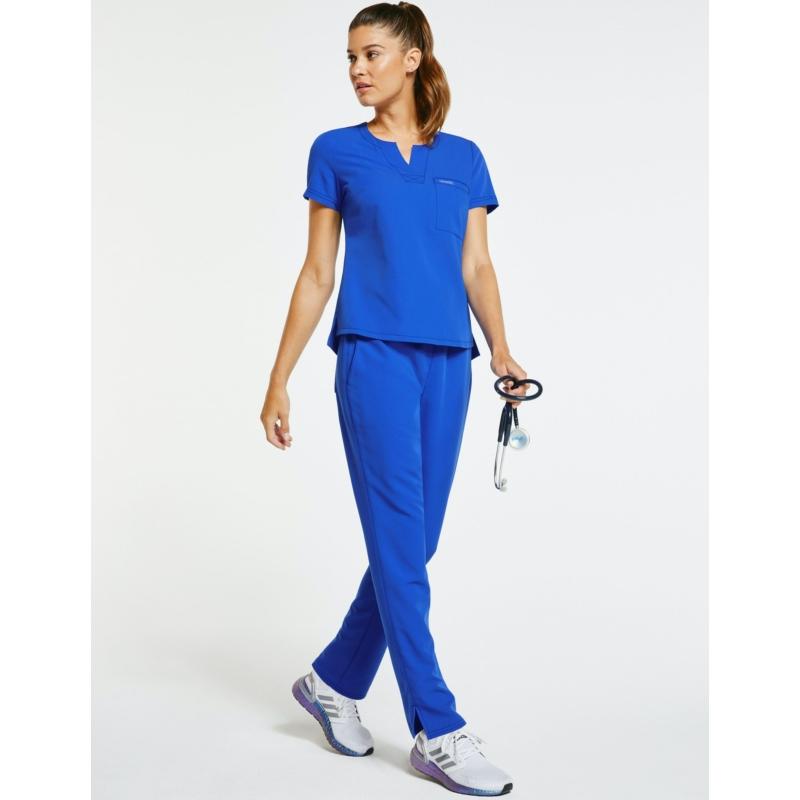 JOLIE 5 zsebes egyenes szárú sztreccs orvosi nadrág - király kék