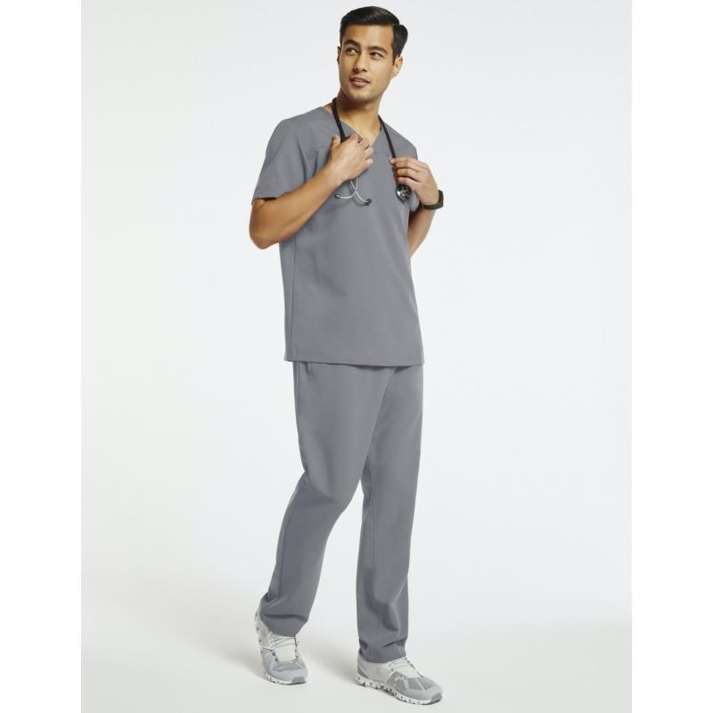 JERUM 4 zsebes egyenes szárú férfi orvosi nadrágzürke