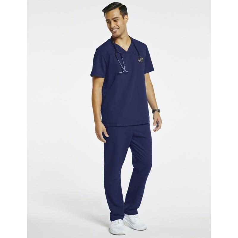 JERUM 4 zsebes egyenes szárú férfi orvosi nadrágötétkék