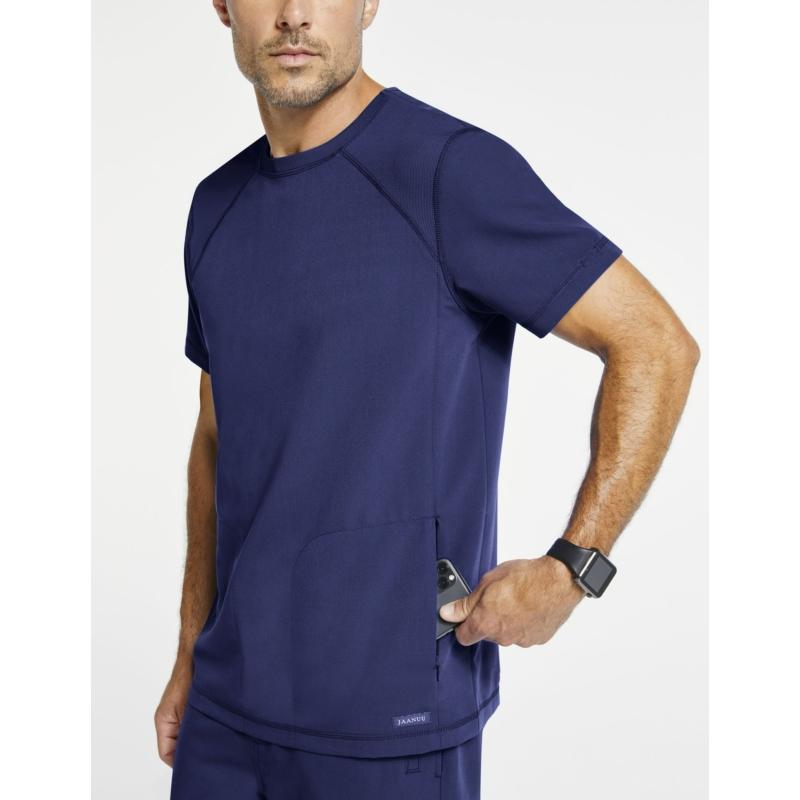 OLIVER kerek nyakú prémium férfi orvosi felső ötétkék