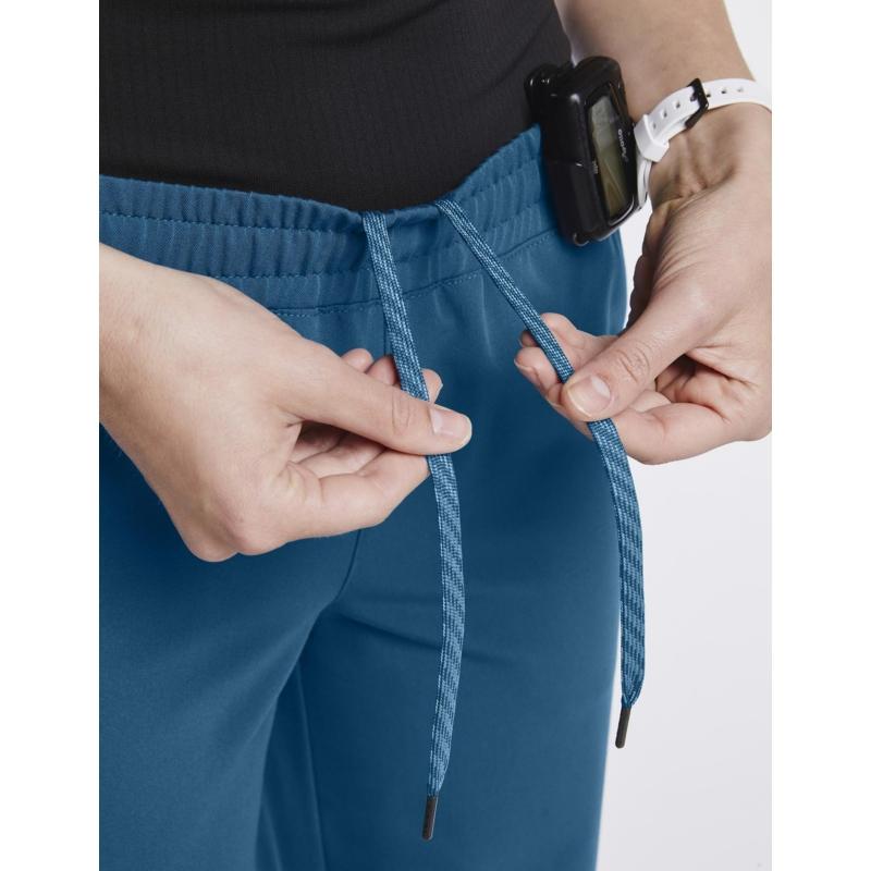 JOLIE 5 zsebes egyenes szárú sztreccs orvosi nadrág - karibi kék