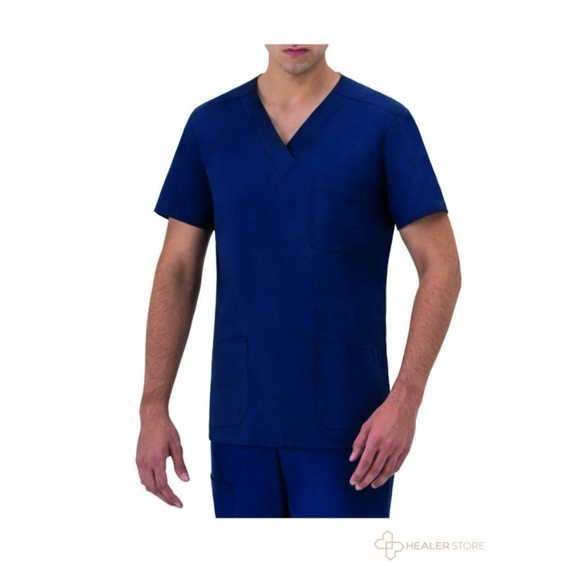 giuliano-szuprfit-ellenallo-anyagu-kek-ferfi-orvosi-felso-scrub-healerstore.jpg