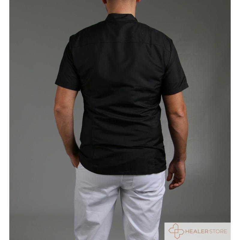 MAURIZIO lélegző anyagú férfi orvosi ing - fekete