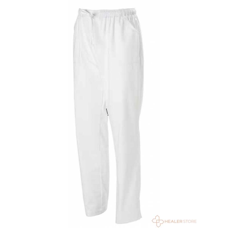 RODI fehér szaténpamut unisex orvosi műtős nadrág