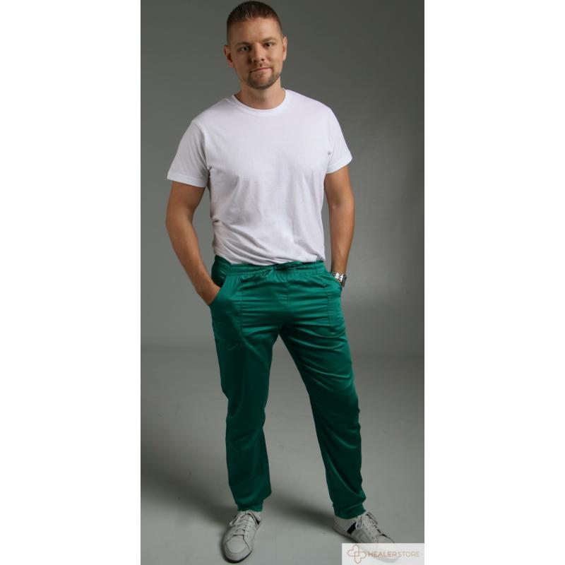 RODI zöld szaténpamut unisex orvosi műtős nadrág