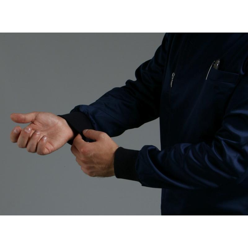 RUGGERO prémium szaténpamut férfi hosszú ujjú egészségügyi felső öltözet - kék